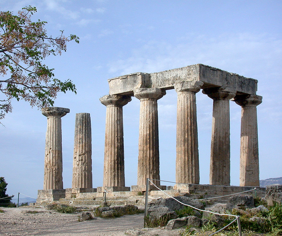 Дорические стили древнегреческих колонн в казани