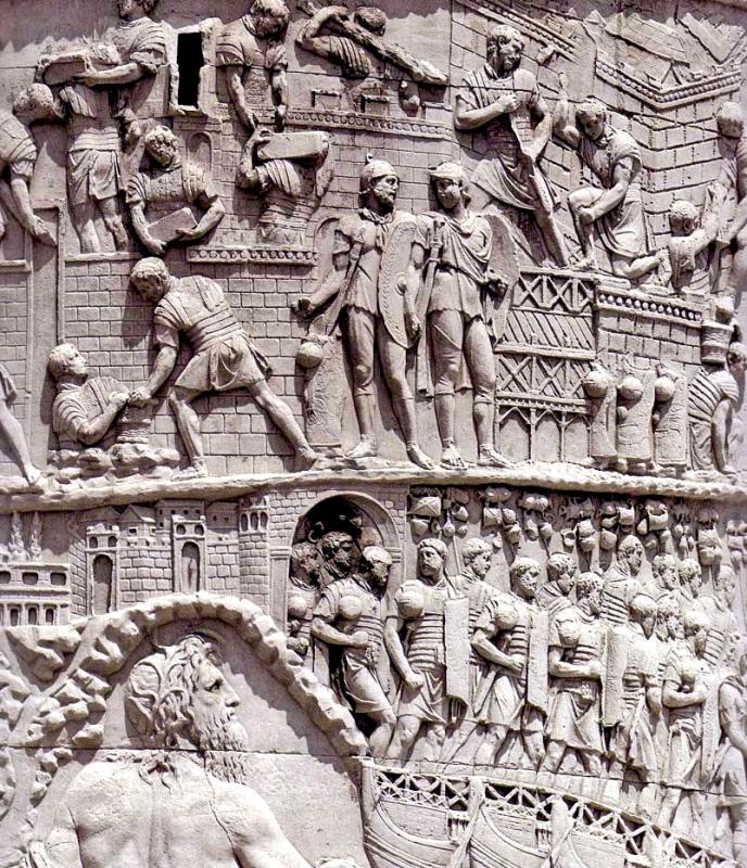 la columna de trajano La columna de trajano es uno de los pocos monumentos del mundo romano que nos han llegado en un estado de conservación casi perfecto se atribuye su construcción a apolodoro de damasco, proyectista del complejo monumental del foro en que se asentaba.
